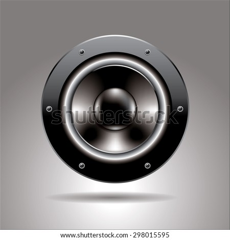 vector speaker realistic icon