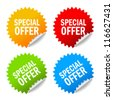Vector special offer labels set - stock photo