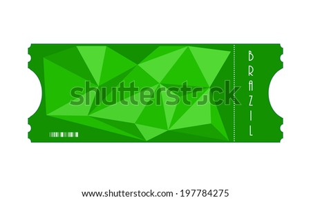 vector special ticket with triangle design, Eps10 - stock vector
