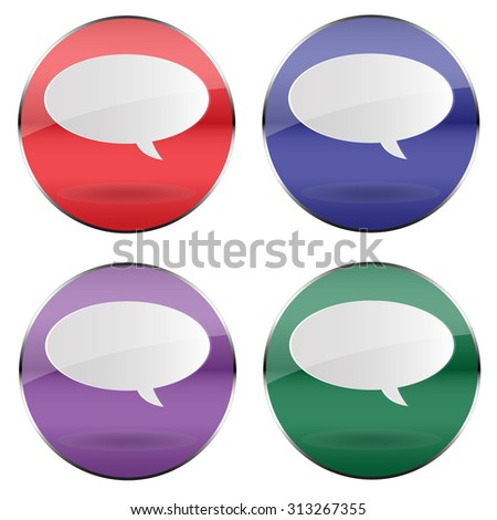 Vector speech bubble button
