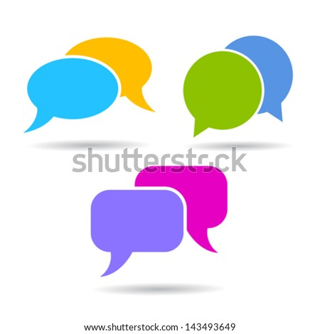Vector speech bubble icons - stock vector