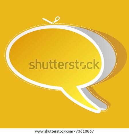 Vector speech bubble. Vector illustration. - stock vector