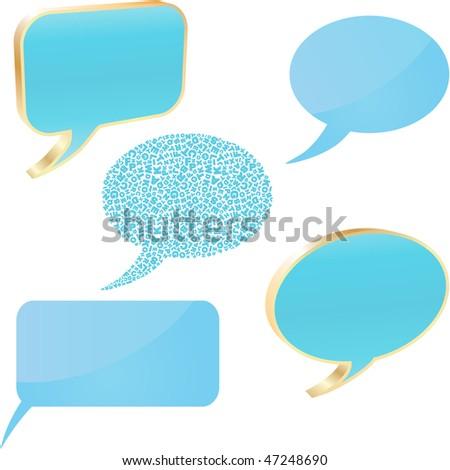 Vector speech bubble. Vector set. - stock vector