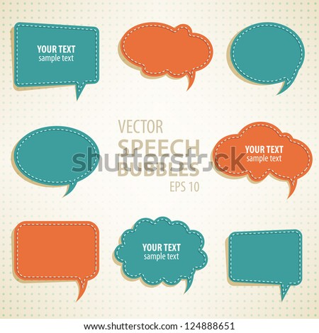 vector speech bubbles background for your design - stock vector