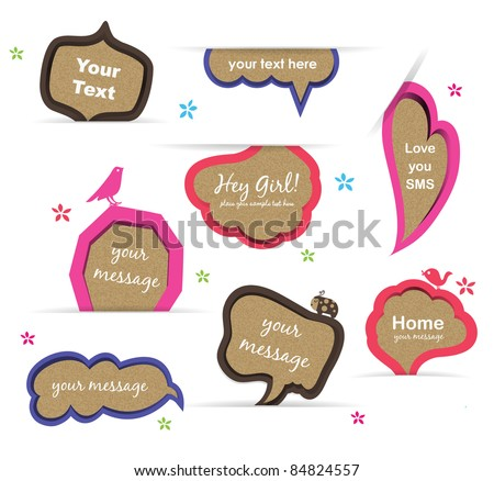 Vector speech bubbles set - stock vector