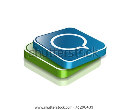 vector speech  icon web design element. - stock vector