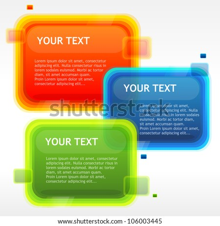 Vector speech templates for text - stock vector