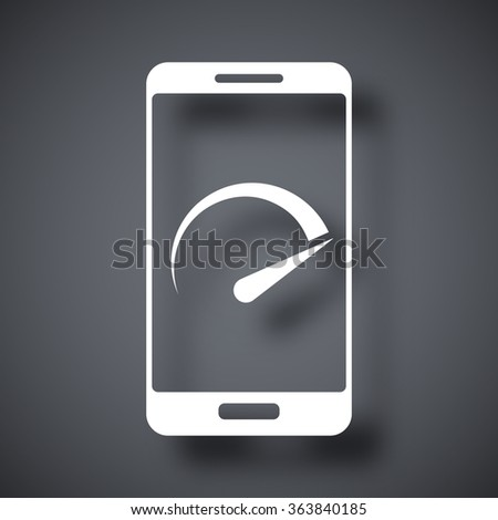 Vector speed test smartphone icon