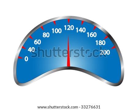 vector speedometer - stock vector