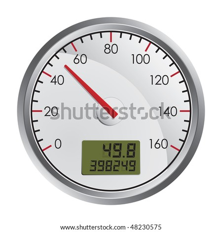 Vector Speedometer - stock vector