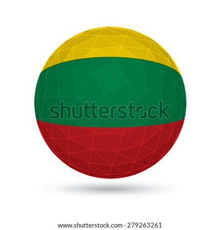 Vector sphere with flag of Lithuania. - stock vector
