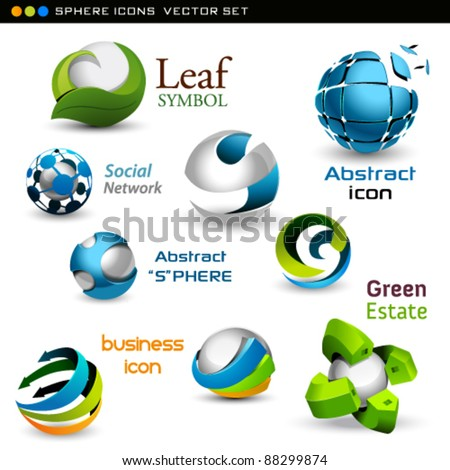 vector spheres - stock vector