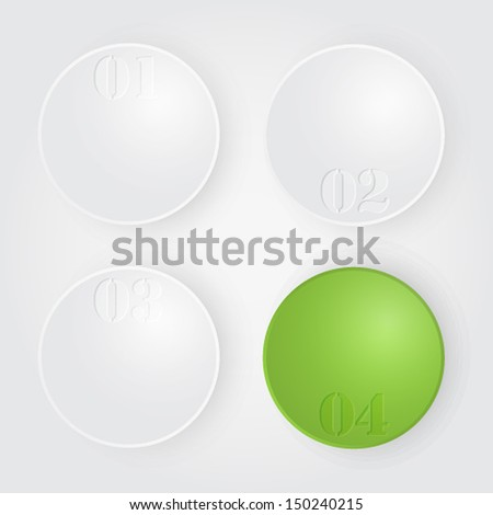 Vector spheres. Diagram illustration - stock vector