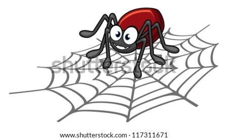 Vector spider cartoon - stock vector