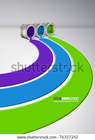 Vector Spilled Paint - stock vector