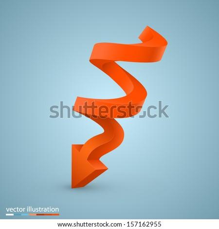 vector spiral arrow - stock vector