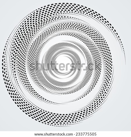 Vector Spiral Halftone Dots . Dotted Spiral Shape . Circular Halftone Dots Form .Vector Spiral Element for your Design . - stock vector
