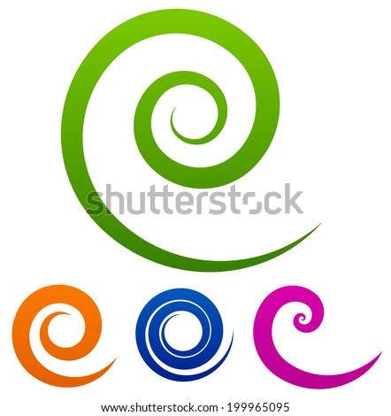 Vector spirals - stock vector