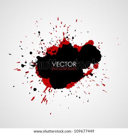 Vector splatter - stock vector
