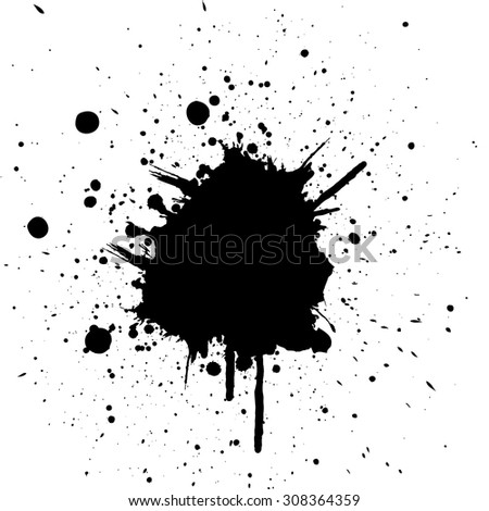Vector splatter black color background.illustration vector - stock vector