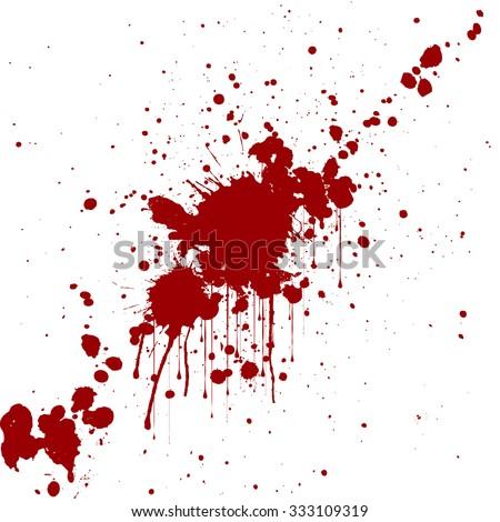 vector splatter red color background. illustraitttion - stock vector