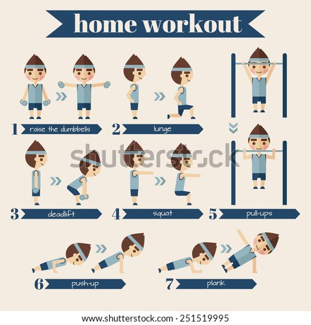 Vector sport and fitness infographics. - stock vector