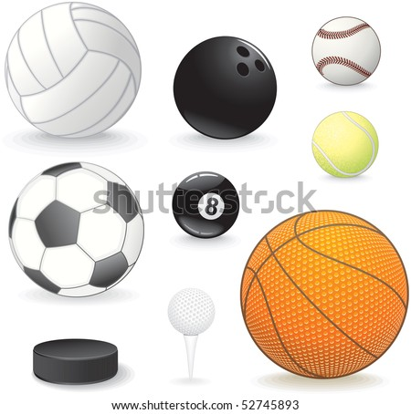 vector Sport balls collection - stock vector
