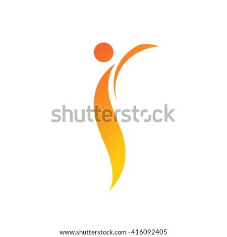 Vector Sport People Logo. - stock vector