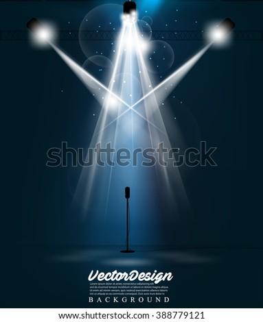 Vector Spotlight Effect Illustration - stock vector