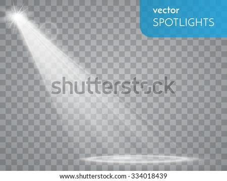 Vector spotlight. Light effect - stock vector