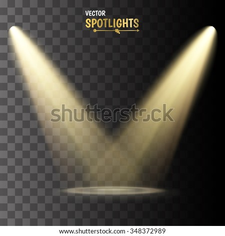 Vector Spotlights. Scene. Light Effects. - stock vector