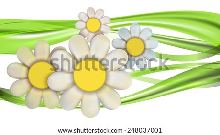 Vector Spring Concept BAckground, Eps10 Vector, Gradient Mesh and Transparency Used, Raster Version Available                - stock vector