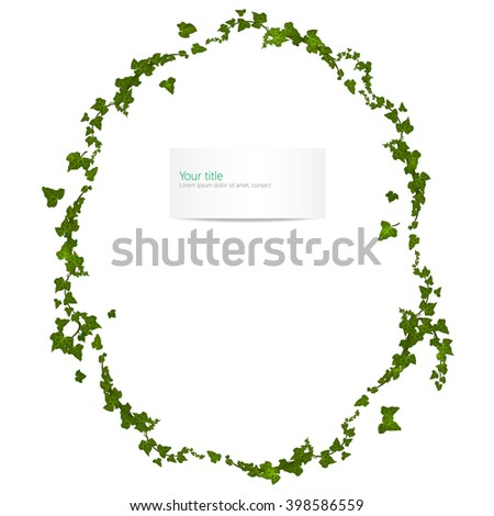 Vector spring frame with ivy - stock vector