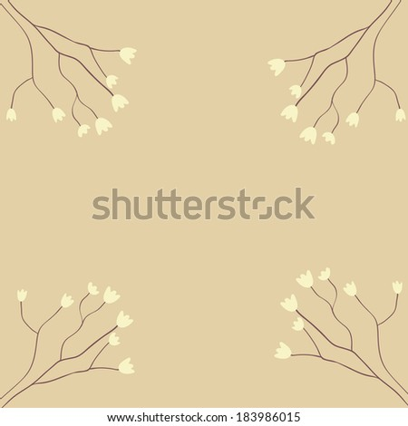 vector spring stylish floral cards