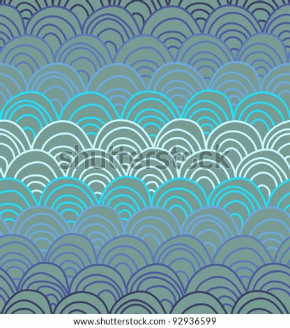 vector squamous textures in blue colours - stock vector