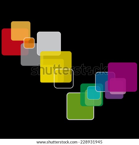 Vector square background