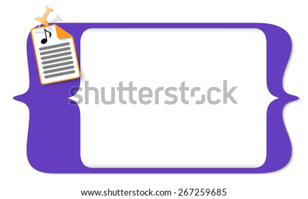 vector square brackets for entering text and document icon and music icon - stock vector