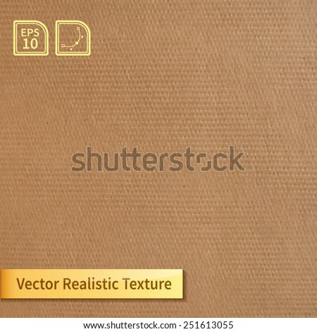 Vector square clean stamped cardboard texture. Photo texture for your design - stock vector