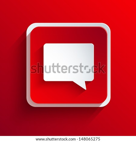 Vector square red icon. Eps10 - stock vector
