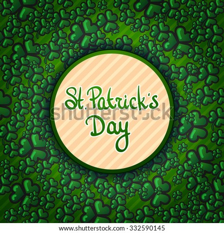 vector St.Patrick's Day background  - stock vector