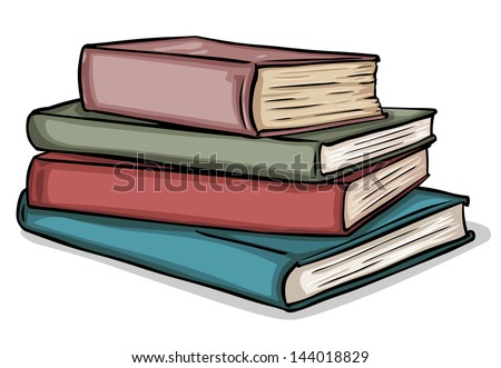 vector stack of books