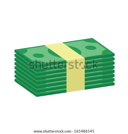 Vector Stack of Money Icon - stock vector