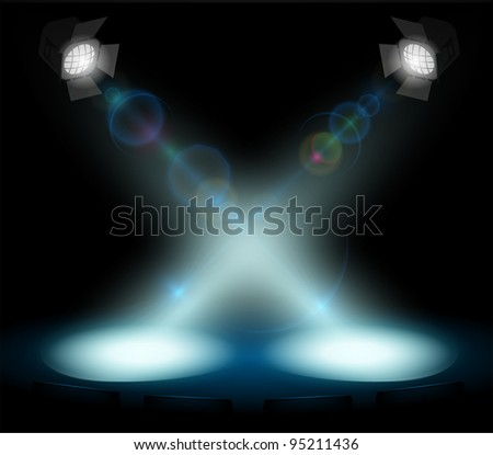 vector stage lighting - stock vector