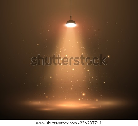 Vector stage spotlight background. Eps10. - stock vector