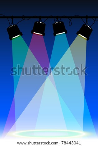 Vector Stage Spotlight with - stock vector