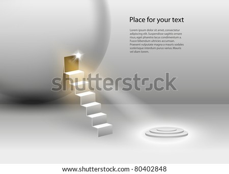 Vector Stage Spotlight with place for your text - stock vector