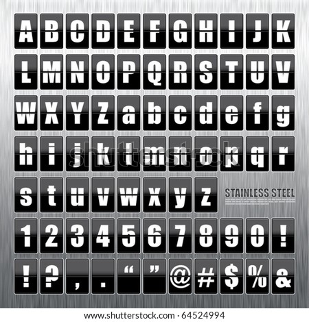 Vector Stainless Steel Mechanical Scoreboard. - stock vector