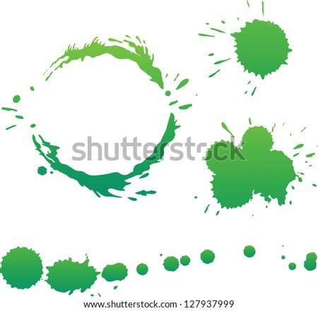 Vector stains and splatter collection - stock vector