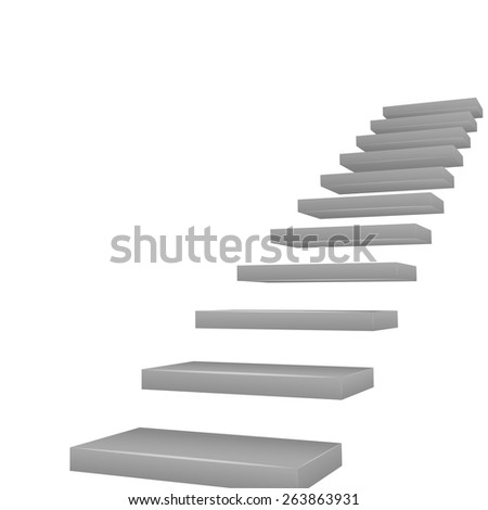 vector stairway - achievement concept - stock vector