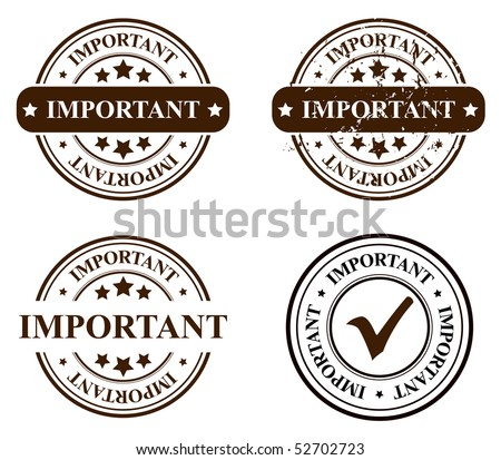 vector stamp - important - stock vector